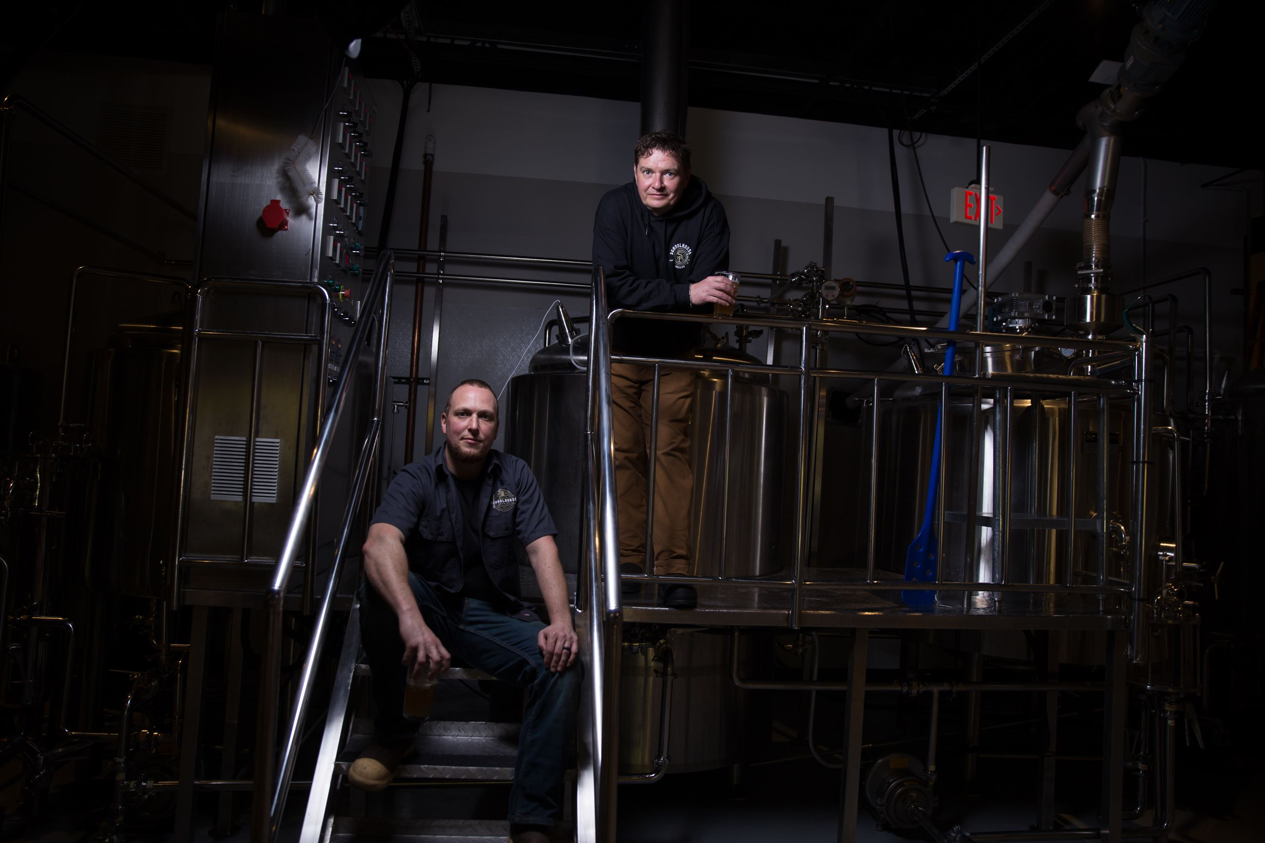 Thomas and Justin, owners of Schoolhouse Brewing