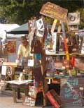 An Arts and Crafts Festival Booth