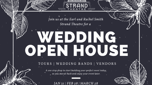 strand wedding open house