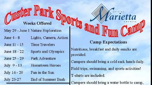 2018 Summer Camp Flyer