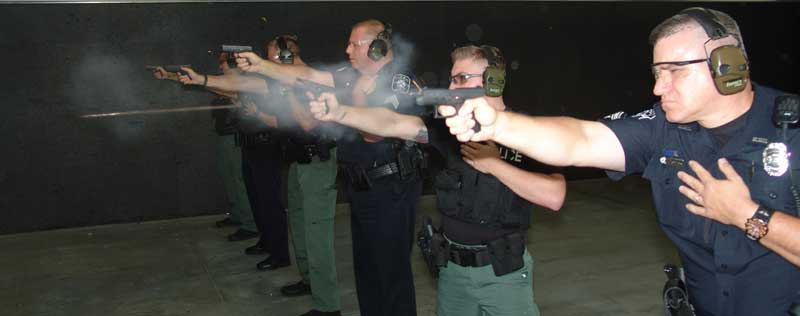 On the range with MPD performing drills with their new GLOCK G42 .380 pistols