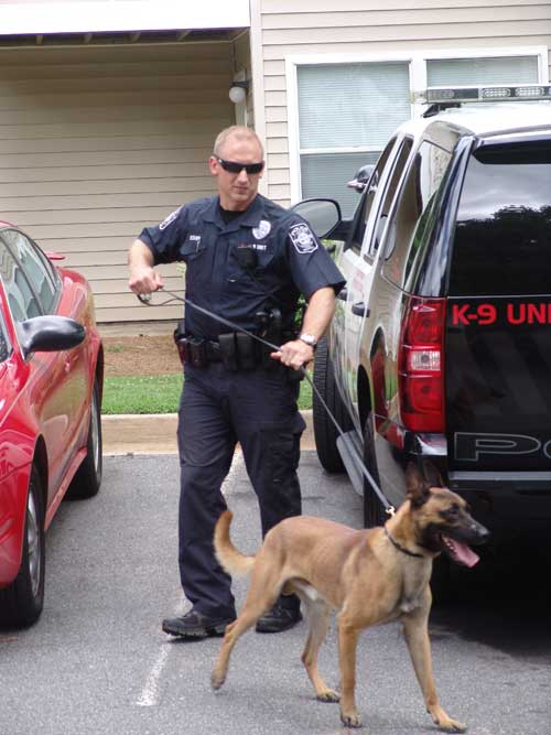 Officer Mark Bishop and K9 Bono