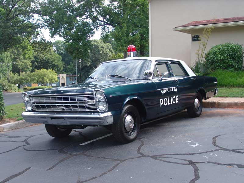 Ford Marietta PD 1966 Ford Custom Squad Car Number 66