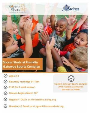 Soccer Shots - Register for Franklin Gateway