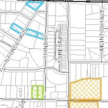 Planning and Zoning Case Map