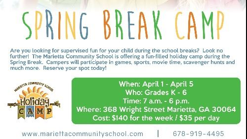 Spring Break Camp Ad