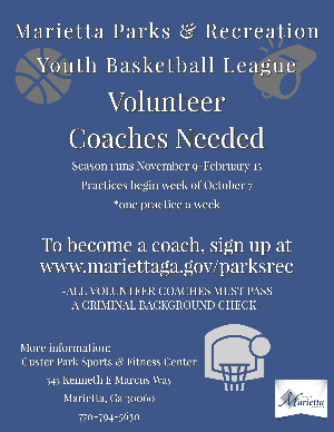 Youth Basketball Volunteer Coaches Needed
