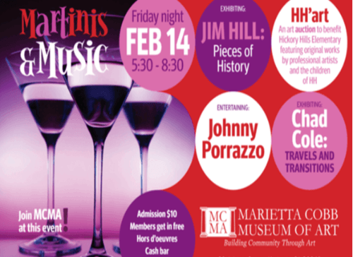 feb 14 martinis and music