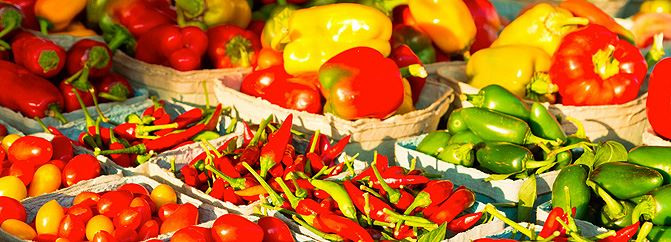 Farmers Market Peppers - Photo courtesy of CameronCreations.net