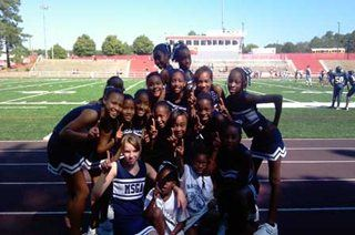 Cheerleading Team Group Photograph