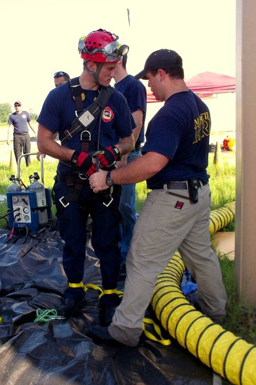 Confined Space Training Setup