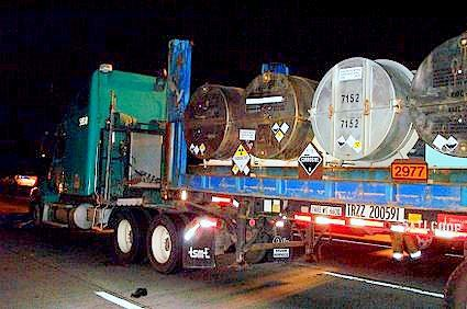 Tractor Trailer Transporting Hazardous Materials