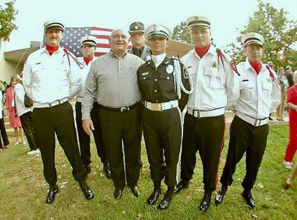 Honor Guard Pose With Governor Sonny Perdue