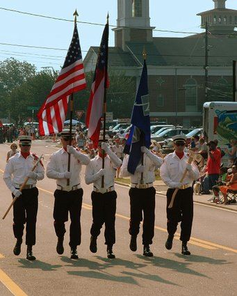 Color Guard lead the July Fourth Parade